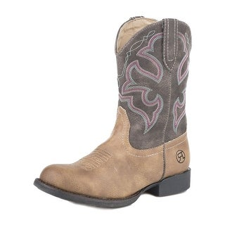 "Roper Western Boots Girls Stitching 6"" Shaft Tan 09-018-1222-1226 TA"
