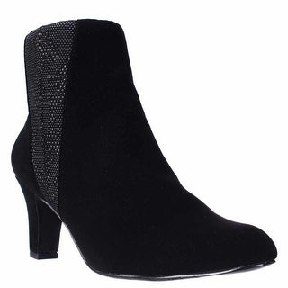 Easy Street Endear Dress Ankle Booties - Black.Black White