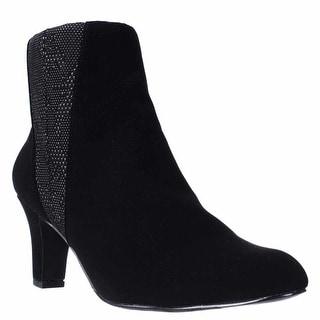 Easy Street Endear Dress Ankle Booties - Black.Black White