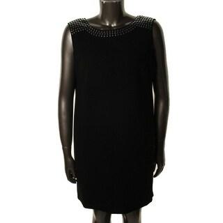 Tahari ASL Womens Zackary Crepe Sleeveless Cocktail Dress - 10
