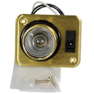 Arcon 18087 Brass Square 12V Aircraft Style Single Light