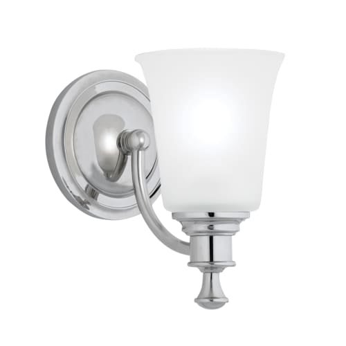 "Norwell Lighting 9721 Sienna 9"" Tall Single Light Bathroom Sconce with White Glass Shade"