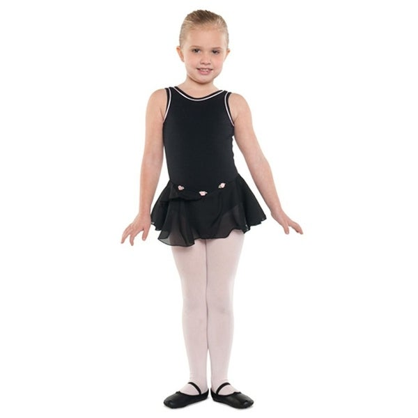 dea18d72a1159 Danshuz Little Girls Black Tank Piping Skirt Ballet Leotard Size 2-14