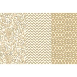 "Decoupage Paper Metallic 12""X16"" 3/Pkg-Gold Trends"