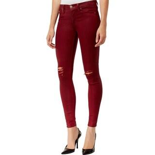 Hudson Womens Nico Skinny Jeans Mid-Rise Destroyed (Option: 27 - Cabernet)
