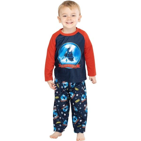 The Polar Express Train Toddler Kids Raglan Pajama Set. Opens flyout.