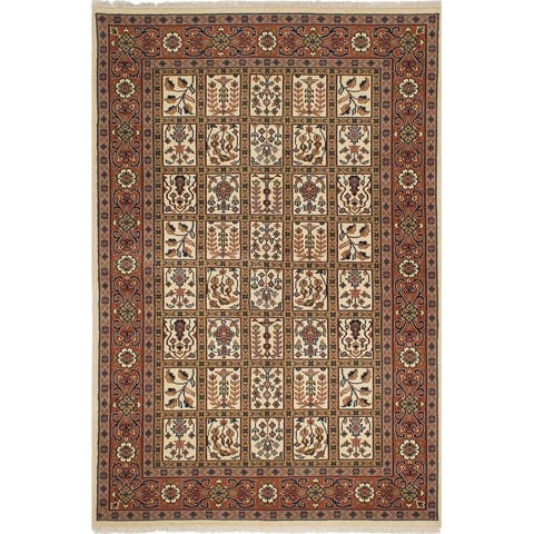 """ECARPETGALLERY Hand-knotted Royal Mahal Copper, Cream Wool Rug - 5'6"""" x 8'3"""""""