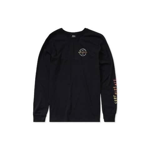 Billabong Mens Bias Logo Basic T-Shirt, Black, Large