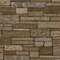 Brewster TLL41391 Clayton Neutral Stone Texture Wallpaper - N/A