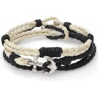 Braided Cord Bracelet Trio (Blk/Crm) - Exclusive Beadaholique Jewelry Kit