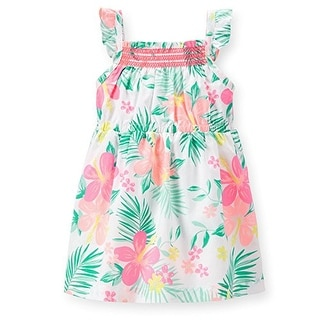 Carter's Baby Girls' Poplin Floral Dress - White -9 Months