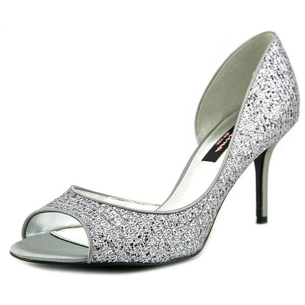 Nina Alysa Peep-Toe Leather Heels