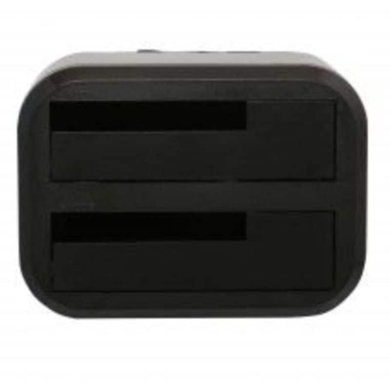 "USB 3.0 Dual 3.5"" SATA-3 RAID Enclosure one touch backup up to 4TB JMicron chip"