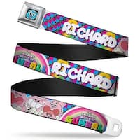 Gumball Face Close Up Black Full Color Tawg Richard Poses Multi Color Seatbelt Belt