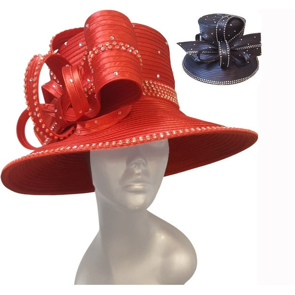 Dressy satin ribbon church hat Mothers Day or and special occasion. Opens flyout.