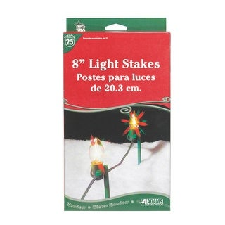 Adams 9105-99-1640 Christmas Light Stakes, Plastic, Clear