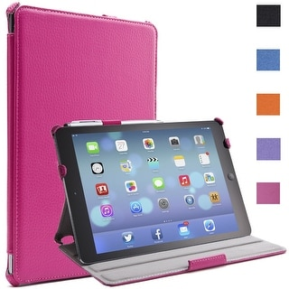 i-Blason Apple iPad Air Smart Case Slim Folio Book Shell Stand Cover Magenta