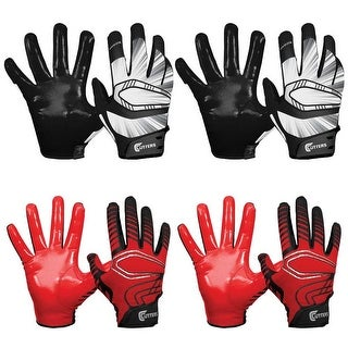 Cutters Gloves REV Pro Receiver Glove (4 Pair) (Black/Red) Large