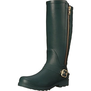 Steve Madden Womens Northpol Quilted Knee-High Rain Boots