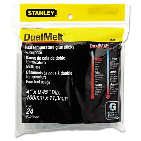 "Dual Temperature Glue Sticks, 0.45"" x 4"", Dries Clear, 24/Pack - Clear"