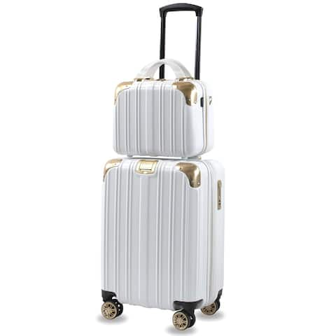 Melrose S 2-Piece TSA Anti-Theft Carry On Vanity Luggage Set