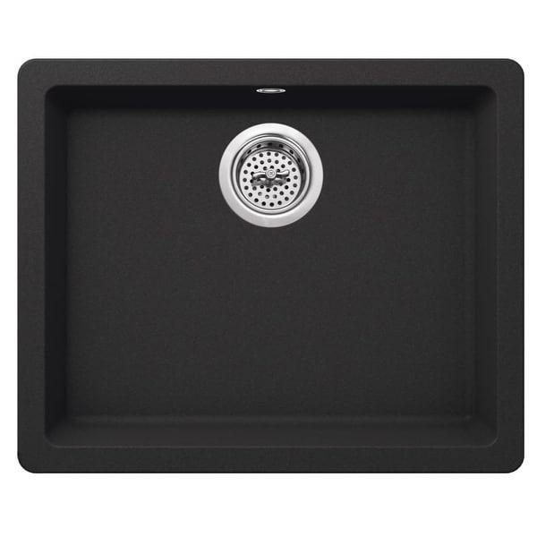 "Miseno MGR2217 Carolina 22"" Single Basin Drop In or Undermount Granite Composite Kitchen Sink - Basket Strainer Included - n/a"