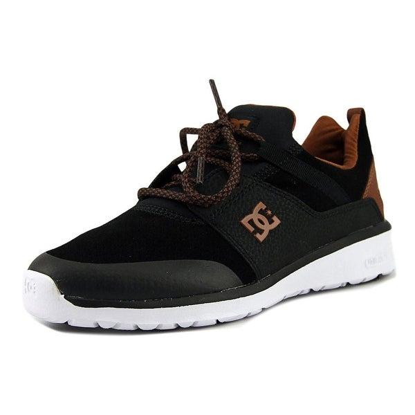 DC Shoes Heathrow Presti Men Round Toe Leather Black Skate Shoe