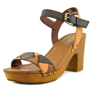 Mia Mateo Open-Toe Synthetic Slingback Heel