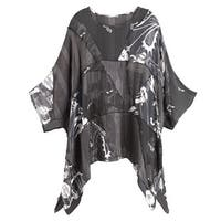 Women's Tunic Top - Black and White Background Music Sheer Blouse