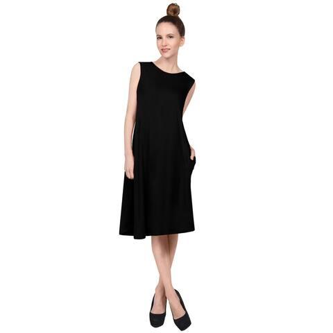 NE PEOPLE Women's Casual Sleeveless Round Neck Knee Length Dress