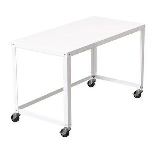 Link to Porch & Den Rockridge White 48-inch Mobile Desk Rolling Cart Similar Items in Student Desks