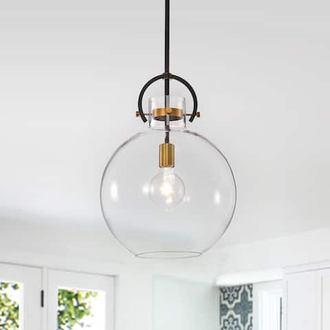 Oil Rubbed Bronze and Antique Gold 1-light Pendant