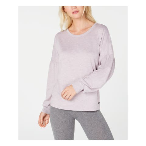 IDEOLOGY Womens Pink Heather Long Sleeve Jewel Neck Sweater Size XL