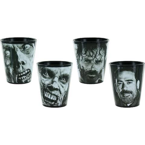 Walking Dead Faces Set of 4 Mini Glasses