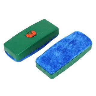 2pcs Plastic Housing Whiteboard Blackboard Cleaner Dry Marker Eraser Blue Green