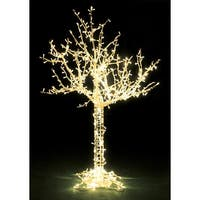 8' LED Lighted Cumberland Tree Christmas Display Decoration - Warm White Lights