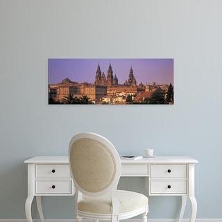 Easy Art Prints Panoramic Image 'Cathedral, Cityscape, Santiago De Compostela, La Coruna, Galicia, Spain' Canvas Art