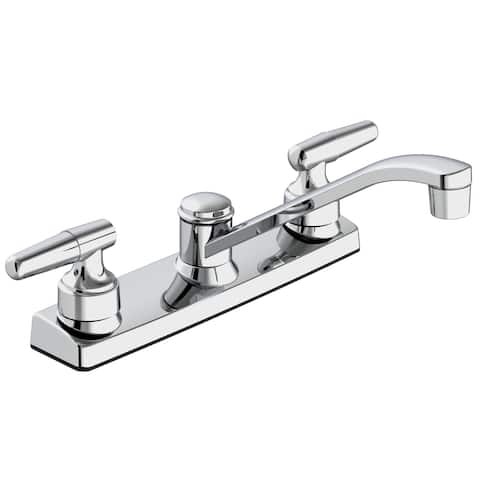 Belanger EBU65WCP Dual Handle Low-Arc Kitchen Faucet, Polished Chrome