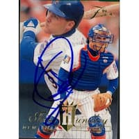 Signed Hundley Todd New York Mets 1994 Fleer Baseball Card autographed