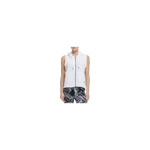 Donna Karan Womens Hooded Sweatshirt Sleeveless Casual - XS