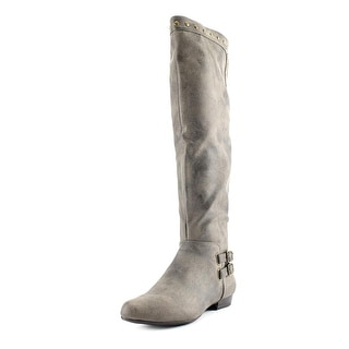 White Mountain Flossy Round Toe Synthetic Knee High Boot