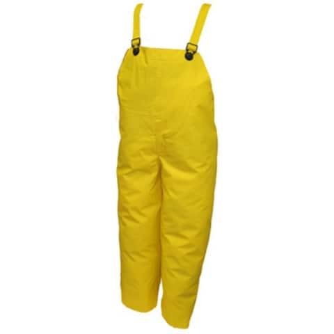 Tingley O56007-SM DuraScrim PVC Plain Front Overalls, Small, Yellow