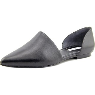 Charles David Kenny Women  Pointed Toe Leather Black Flats