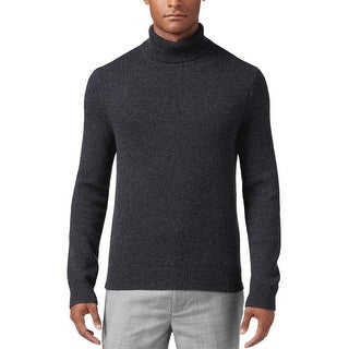 Michael Kors Italian Cashmere Turtleneck Sweater Charcoal Large L