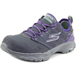 Skechers Go Walk Outdoor-Journey Women Round Toe Suede Gray Walking Shoe