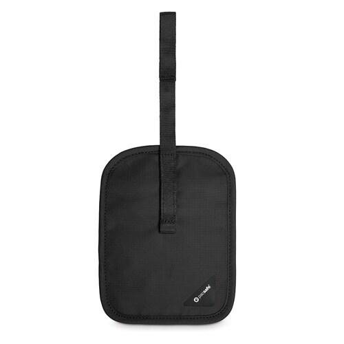 Pacsafe Coversafe V60-Black RFID Blocking Secret Belt Wallet w/ Flap Closure