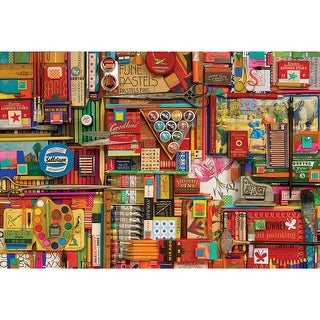 Outset Media Jigsaw Puzzle 2000 Pieces 40 x 27 in. Vintage Art