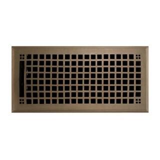 "Signature Hardware 929150-6-12 Mission Brass Floor Register - 6"" x 12"" - N/A"