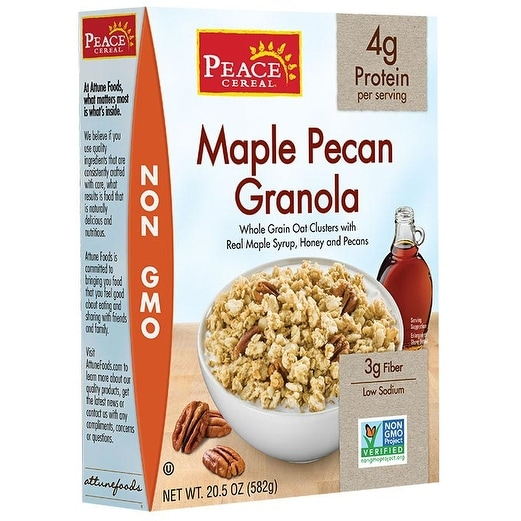 Peace Cereals Granola - Maple Pecan - Case of 6 - 11 oz.