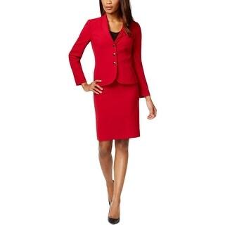 Tahari ASL Womens Petites Robert Skirt Suit Crepe 2PC